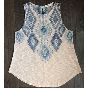 Ginger G sweater tank top with Aztec print